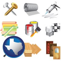 representative building materials - with Texas icon