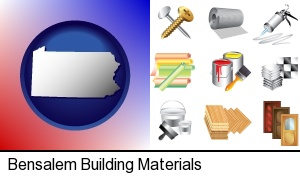 Bensalem, Pennsylvania - representative building materials