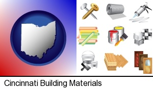 Cincinnati, Ohio - representative building materials