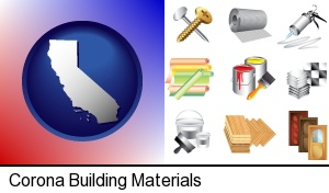 Corona, California - representative building materials