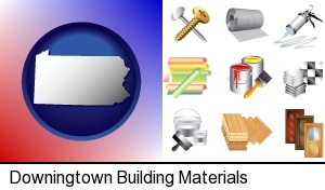 Downingtown, Pennsylvania - representative building materials
