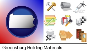 Greensburg, Pennsylvania - representative building materials