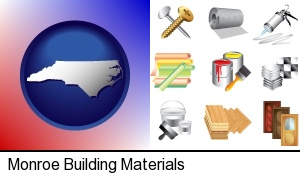 Monroe, North Carolina - representative building materials