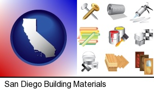 San Diego, California - representative building materials
