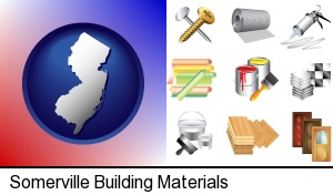 Somerville, New Jersey - representative building materials