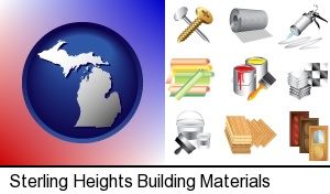 Sterling Heights, Michigan - representative building materials