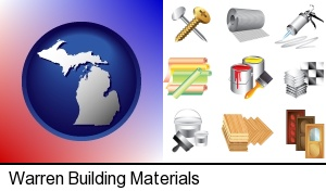 Warren, Michigan - representative building materials