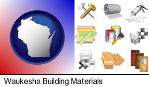 Waukesha, Wisconsin - representative building materials