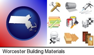 Worcester, Massachusetts - representative building materials